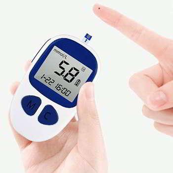 Дианулин измеряет уровень сахара в крови