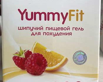 Лицевая сторона упаковки геля yummyfit