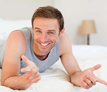 Мужчина после применения средства Уротрин
