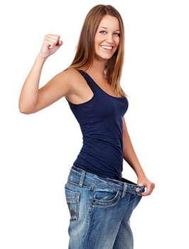 Девушка после применения коктейля Weex для похудения