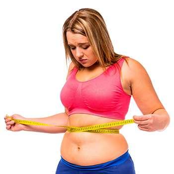 Женщина до применения Слиммера для похудения