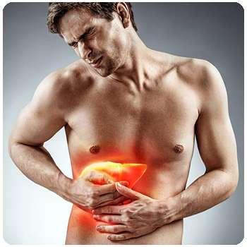 У мужчины болит печень до применения капсул Гепаклин