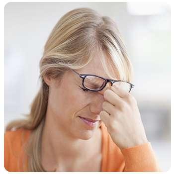 У женщины плохое зрение до применения средства Оптитрин.