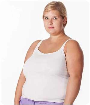 Женщина до применения капель для похудения Appetex.
