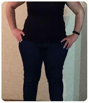 Благодаря капсулам Кето Экстра девушка похудела.