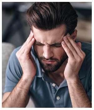 Похмельный синдром до применения капель Алковикс.