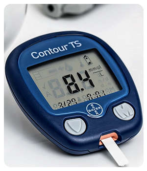 Повышенный сахар до применения лекарства Диабетик Форте.