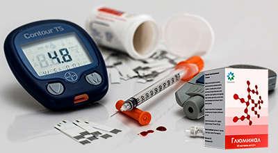 Препарат Глюминал для лечения сахарного диабета.